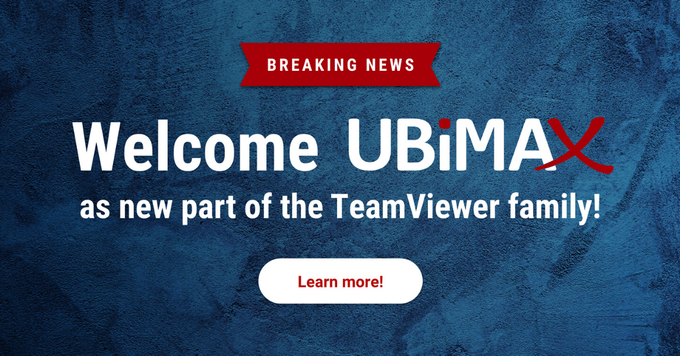 TeamViewer Ubimax Acquisition