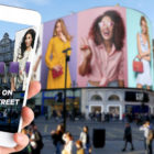 Darabase, Landsec and Ocean Outdoor testing the interactive capabilities of Piccadilly Lights using mobile AR